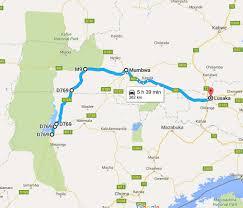 Google Maps Route by Getting To Nanzhila Nanzhila Plains Kafue Lodge Accommodation