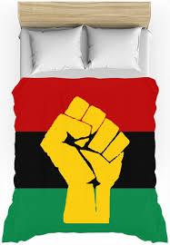 Egypts Flag Rbg Flag W Yellow Fist Duvet Cover Flags And Black