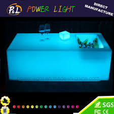 Plastic Bar Table China Plastic Rechargeable Illuminated Led Bar Table With Ice Box