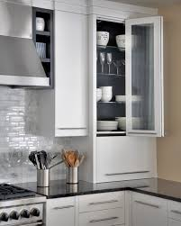 Roll Top Kitchen Cabinet Doors Grey Bi Fold Kitchen Cupboard Doors Reveal Wooden Shelving Inside