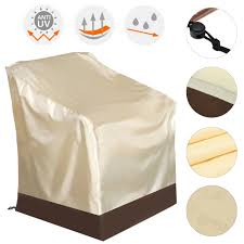 Patio Chair Cover Polyester Waterproof Single High Back Chair