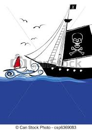 drawings of pirate ship cartoon csp6369083 search clipart