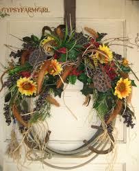 horseshoe wreath rope wreath with horseshoes cowboy western home decor diy