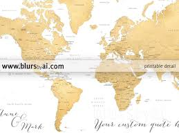 World Map With States by Printable Personalized World Map With Countries Us States