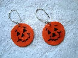 little pumpkin earrings paper beads jewelry making halloween
