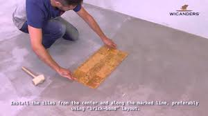 Removing Cork Floor Tiles How To Install Wicanders Cork Flooring Glue Down Youtube