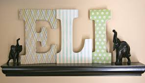 personalised wooden letters personalized nursery letters