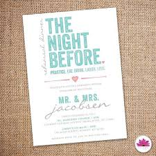 Rehearsal Dinner Invites The Night Before Rehearsal Dinner Invitation 5 X 7 Digital File