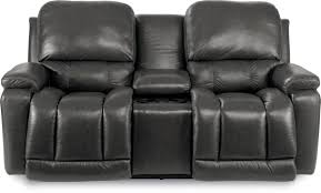 Power Recliner Loveseat With Console Casual La Z Time Full Reclining Loveseat W Console With Bucket