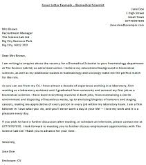 biomedical science cover letter 28 images team science the