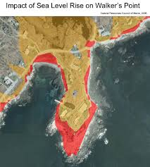 Map Of Maine Coast Maps Maine Communities Affected Sea Level Rise