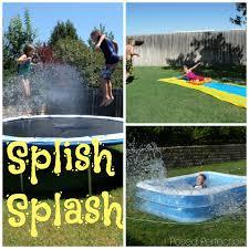 backyard water slide diy home outdoor decoration