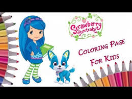strawberry shortcake coloring book color blueberry