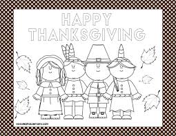 thanksgiving placemats coloring printables u2013 happy thanksgiving