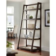 5 Shelves Bookcase White Leaning Ladder Shelf U2014 Best Home Decor Ideas Leaning