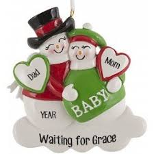 expecting mothers baby s personalized ornaments