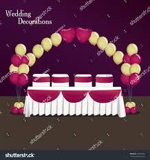 decoration wedding balloon composition table wedding stock vector