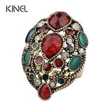 big fashion rings images Kinel fashion turkey vintage jewelry big enamel rings for women jpg