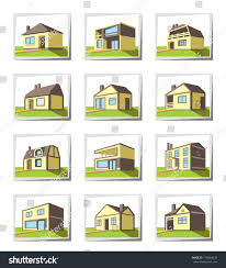 types of houses styles marvelous various types houses vector illustration stock pict of