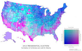 Presidential Election Map 2012 by Us County Map Race Party Correlation