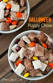 easy halloween appetizers recipes halloween puppy chow your cup of cake