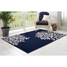 Coastal Indoor Outdoor Rugs Better Homes And Gardens Indigo Coral Reef Coastal Indoor Outdoor