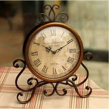 large wood wall clock tower vintage rustic shabby home office cafe