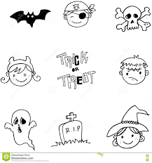 face character halloween doodle stock vector image 73067394