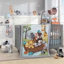 Noah S Ark Crib Bedding Lambs Two Of A Noahs Ark Animals 4 Crib Bedding