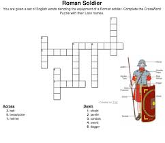 crossword puzzle u2013 latin names for equipment and armor of a roman