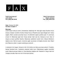 Elegant Fax Cover Letter Free Word Template Download
