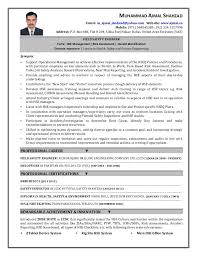 Environmental Engineer Resume Health And Safety Engineer Sample Resume 11 Mechanical Engineer