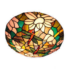 Stained Glass Light Fixtures Stained Glass Ceiling Light Fixture Ebay