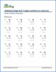 grade 3 addition worksheet adding 3 digit numbers in columns with
