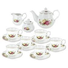 roses tea set porcelain tea set elyzfurnishing