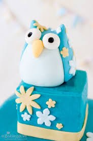 cute owl birthday cake