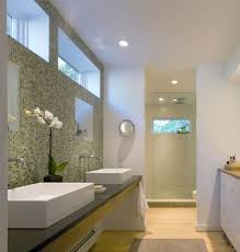 bathroom sink ideas contemporary with red brick wall mosaic