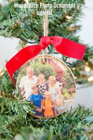 How To Make Adorable Wood Slice Christmas Ornaments Craftaholics Anonymous Diy Wood Slice Photo Ornament