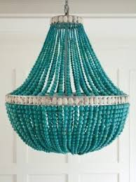 turquoise beaded chandelier beaded chandelier l shades foter