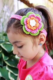 crochet flower headband crochet flower clip headband hot green hot pink orange on luulla