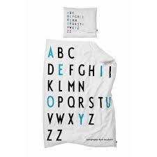leo u0026 bella design letters arne jacobsen bedding blue junior