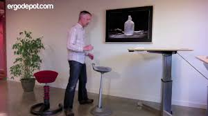 Cheap Bar Stools Ikea 4522 by Muvman Sit Stand Chair Youtube