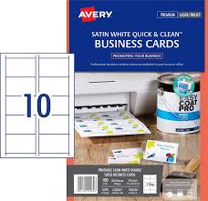 satin finish business cards 936230 avery australia