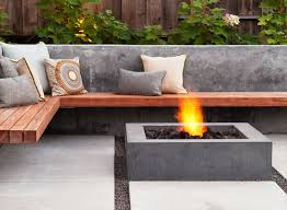 Concrete Firepit Simple Design Concrete Pit Fetching Modern Ep46