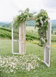 wedding backdrop doors whimsical outdoor wedding ceremony door backdrop brides of