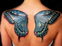 butterfly wings back shoulders symbol