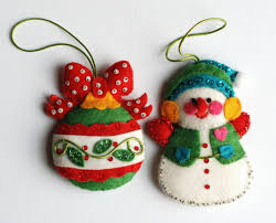felt ornaments vintageas with sequins by awesome