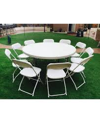 Where To Rent Tables And Chairs White Round Party Table With 10 Chairs 16 Package Jump 4 Adan