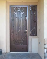 French Security Doors Exterior by Artistic Iron Works Artistic Iron Works Ornamental Wrought