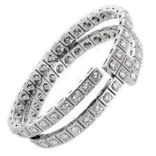 bracelet diamond gold tennis white images Cartier diamond gold wrap tennis bracelet for sale at 1stdibs jpg